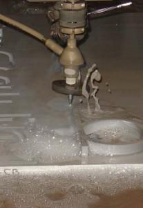 corte por agua acero inoxidable 20 mm