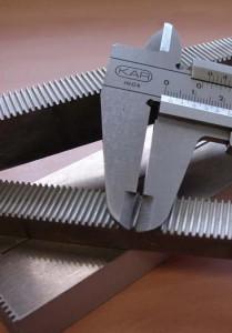 corte por agua cremallera aluminio 15 mm